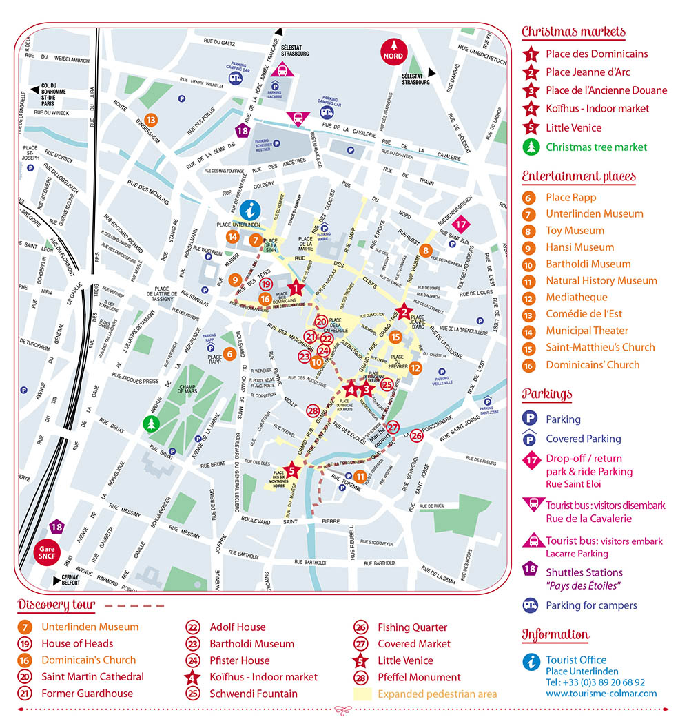 Map of the Colmar Christmas Markets