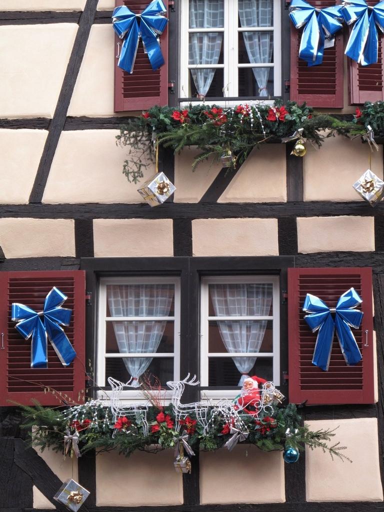Détails d'une maison décorée